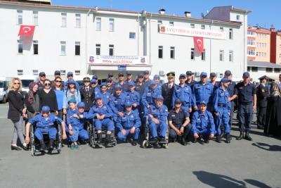Rize'de Engellilerin Bir Günlük Askerlik Heyecanı