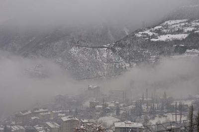 Rize'de Kar Yağışı Yüksek Kesimlerde Etkili Oldu