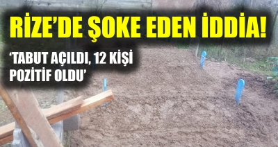 Rize'de Kovit-19 Skandalı: 'Tabutun açıldığını duyduk ama görmedik'