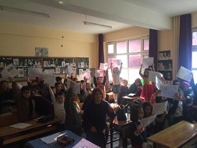 Rize'de Öğrenciler Karne Sevinci Yaşadı