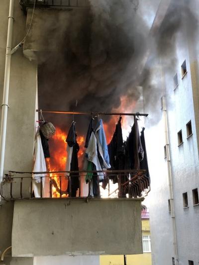 Rize'de Otistik Çocuk Elektrik Sobasını Devirdi, Yangın Çıktı