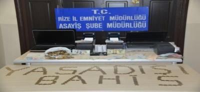 Rize'de Yasa Dışı Bahis Operasyonu 13 Gözaltı