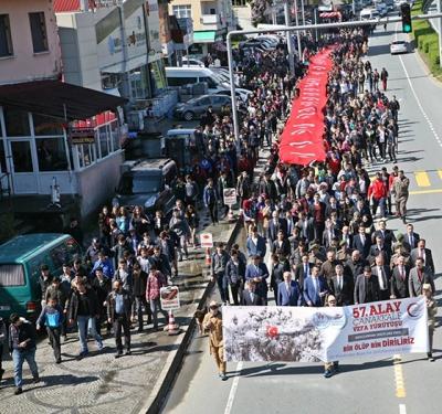 Rize'de Yüzlerce Genç Vefa Yürüyüşünde Bir Araya Geldi