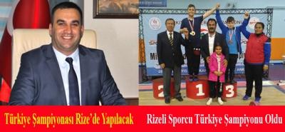 Rizeli Minik Halterci Türkiye Şampiyonu Oldu