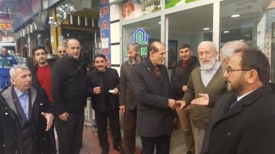 Saadet Partisi Rize Belediye Başkan Adayı Av Muhamet Kaçar Çalışmalarını Sürdürüyor