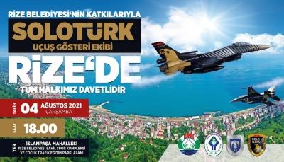SOLOTÜRK, 4 Ağustos'ta Rize'de Gösteri Uçuşu Yapacak