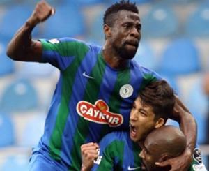TFF 1. Lig ekiplerinden Çaykur Rizespor, geçen sezon devre arasında Avusturya'nın Strum Graz takımından 4,5 yıllık anlaşma imzaladığı Bright Edomwonyi'yi, aynı takıma kiraladı.