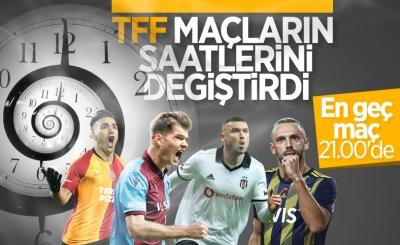 TFF, maç saatlerini değiştirdi