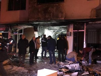 Trabzon'da tüpgaz bayisinde patlama