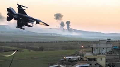 TSK, Afrin'in doğusundaki Azez'den operasyon başlattı.