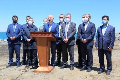 Ulaştırma ve Altyapı Bakanı Sayın Adil Karaismailoğlu, Rize'de Yapımı Devam Eden Projeleri İnceledi